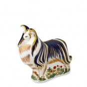Rough Collie Dog Paperweight, 14.5cm