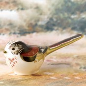 Long Tailed Tit Bird Paperweight, 5cm