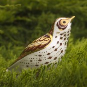 Mistle Thrush Paperweight, 10cm