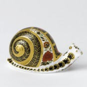 Old Imari - Snail Paperweight, 6.5cm
