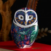 Periwinkle Owl Paperweight, 11cm
