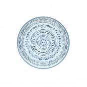 Glass Plate, 17cm - Light Blue