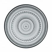 Glass Plate, 17cm - Grey
