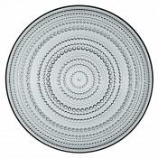 Glass Plate, 31.5cm - Grey