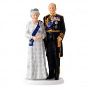 Queen Elizabeth's Platinum Wedding Anniversary Figurine, 24.5cm - Limited Edition of 1,000