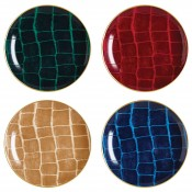 Set/4 Coupe/Tidbit Plates, 16cm - Assorted Colours