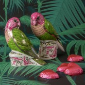 Pair of Magestic Love Birds Paperweights - Limited Edition of 500
