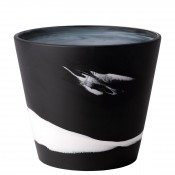 Flower Pot, 18cm (7') - Black