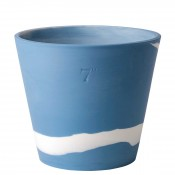 Flower Pot, 18cm (7') - Wedgwood Blue