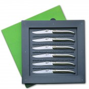 Set/6 Philippe Starck Table/Steak Knives, 21.5cm - Polished Finish