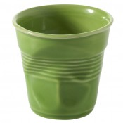 Lime Green Crumpled Cappuccino Cup, 8cm, 180ml