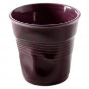 Aubergine Crumpled Cuppuccino Cup, 8cm, 180ml