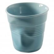 Caribbean Blue Crumpled Cappuccino Cup, 8cm, 180ml