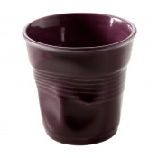 Aubergine Crumpled Espresso Cup, 5.5cm, 80ml