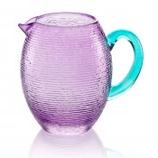 Amethyst Pitcher (with turquoise handle)