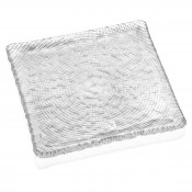 Clear Plate 20x20cm - Diamante