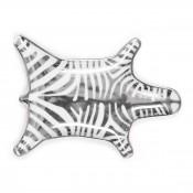 Stacking Dish Silver Zebra