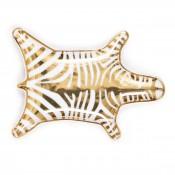 Stacking Dish Gold Zebra