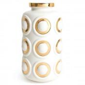 Futura - Circles Porcelain Flower Vase, 32.5cm