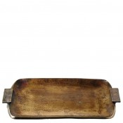 Rectangular Tray with Handles, 53.5x30.5cm - Bronze