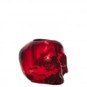 Skull Votive Candleholder, 11cm - Red