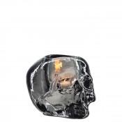 Skull Votive Candleholder, 11cm - Grey