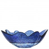 Round Decorative Bowl, 35cm - Stormy Blue - Large