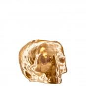 Skull Votive Candleholder, 11cm - Gold