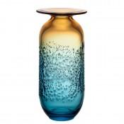 Large Vase, 36.5cm - Blue/Amber