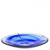 Flat Dish/Platter, 38cm - Blue