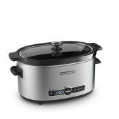 Slow Cooker with Solid Glass Lid, 6-Quarts