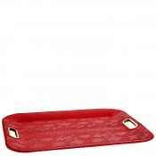 Large Flat Tray with Gold Cut-out Handles, 56x40.5cm - Red Dragon