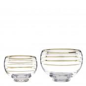 Set/2 Assorted Sizes Decorative Glass Bowls