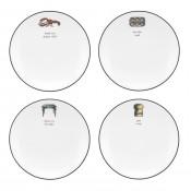 Set/4 Tidbit Plates, 14cm