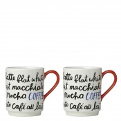 All in Good Taste Piping Hot - Set/2 Coffee Mugs, 10.5cm, 355ml