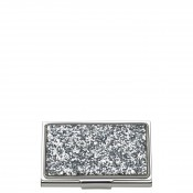 Glitter Business Card Holder, 9.5x5.5cm - Silver