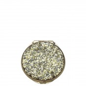 Glitter Compact, 7cm - Gold