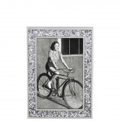 "Glitter Photo/Picture Frame, 10x15cm (4""x6"") - Silver"