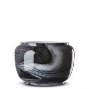 Round Glass Decorative Bowl, 16cm - White