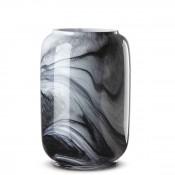 Glass Flower Vase, 23cm - White