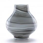 Crystal Flower Vase, 24cm - Swirl