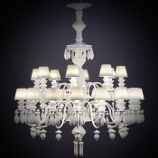 Belle de Nuit White 24 Light/Bulbs Chandelier, 100cm