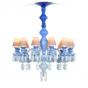 Belle de Nuit Blue 12 Light/Bulbs Chandelier, 75cm