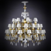 Belle de Nuit Gold 12 Light/Bulbs Chandelier, 75cm