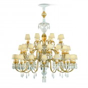 Belle de Nuit Gold 40 Light/Bulbs Chandelier, 125cm