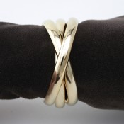 Set/4 Gold Plate Napkin Rings