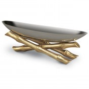 Gold Plate Small Serving Boat, 30cm