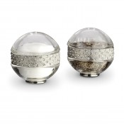 Platinum Plate Band Spice/Salt & Pepper Shakers