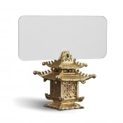 Set/6 Gold Plate Place Card Holders, 5cm