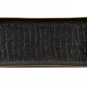Medium Rectangular Black Tray, 31x15cm